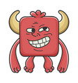 trolling meme red square devil cartoon monster vector image vector image