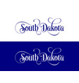 typography of the usa south dakota states vector image vector image