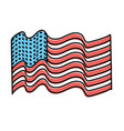 usa flag to celebrate holiday patriotic vector image