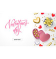 valentines day sale web banner for shop store vector image vector image