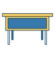 wooden office desk vector image