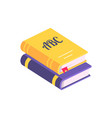 colorful books with bookmark vector image
