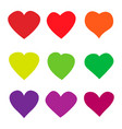 heart love icon on white isolated background vector image