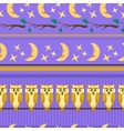 Lilac seamless pattern with owl vector image