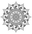 3d mandala design outline happy diwali rangoli vector image vector image