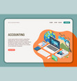 accounting isometric web page vector image