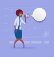 african american business woman hold megaphone vector image