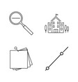 basic content linear outline icon set vector image vector image
