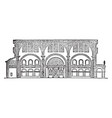 basilica used to describe an ancient roman public vector image vector image