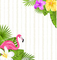 beautiful seamless floral pattern background with vector image vector image