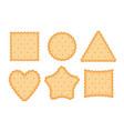 biscuit cookie cartoon vector image vector image