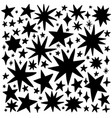 black stars vector image vector image