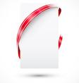 Blank promo tag Paper and ribbon vector image vector image