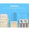 Building Landscape City Construction view vector image vector image