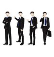 Business Man Full Body Color vector image