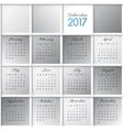 calendar grid vector image vector image
