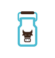Can container for milk icon Garden vector image