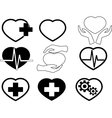 Cardio icons vector image