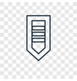 chevron concept linear icon isolated on vector image