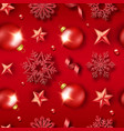 christmas seamless pattern with shining snowflakes vector image vector image