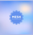 clear sky blue mesh background vector image
