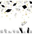 congratulatory on graduation with caps vector image