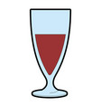 cup of champagne icon vector image vector image