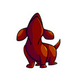 cute cartoon dachshund vector image