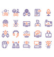 esport color linear icons set vector image