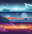 fantastic alien planet horizontal banners vector image