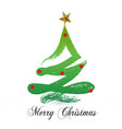 festive christmas tree icon vector image vector image