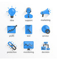 flat icon set design bkue vector image vector image