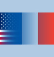 france and usa flags in gradient superimposition vector image vector image