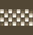geometric wallpaper with elegant wooden tiles vector image vector image