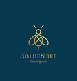 golden bee abstract sign symbol or logo vector image