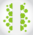 Greeting card with set shamrocks for St Patricks vector image vector image