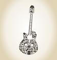 Guitar art vector image vector image