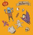 halloween cute set vector image