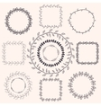 Handsketched Doodle Frames Design Elements vector image vector image
