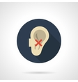 Hear impairment round flat color icon vector image vector image