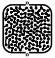 imaginative maze vector image