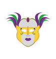 isolated mask design vector image