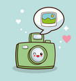 kawaii camera picture photo vector image vector image