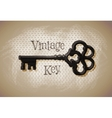 key vintage sketch vector image