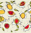 lemon fresh poppet pattern modern juicy citrus vector image vector image