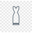 long dress concept linear icon isolated on vector image