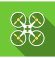 Medical Drone Flat Long Shadow Square Icon vector image vector image