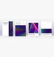 minimal brochure design template set rainbow abst vector image vector image