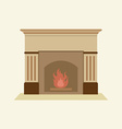 Modern Flat Design Fireplace vector image vector image