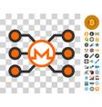 monero masternode network icon with bonus vector image vector image